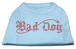 Bad Dog Rhinestone Shirts Baby Blue L