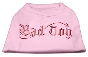 Bad Dog Rhinestone Shirts Light Pink XS (8)