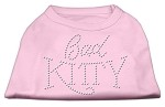 Bad Kitty Rhinestud Shirt Light Pink XS