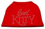 Bad Kitty Rhinestud Shirt Red XS
