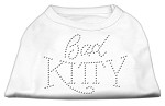 Bad Kitty Rhinestud Shirt White XS
