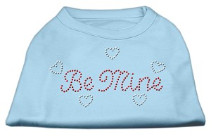 Be Mine Rhinestone Shirts Baby Blue XXXL