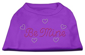Be Mine Rhinestone Shirts Purple XL