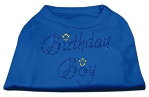 Birthday Boy Rhinestone Shirts Blue XXXL (20)