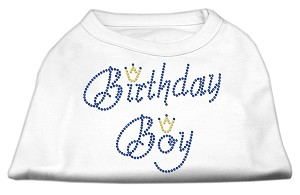 Birthday Boy Rhinestone Shirts White L