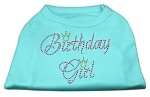 Birthday Girl Rhinestone Shirt Aqua XS