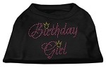 Birthday Girl Rhinestone Shirt Black XS