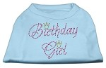 Birthday Girl Rhinestone Shirt Baby Blue XS