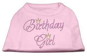 Birthday Girl Rhinestone Shirt Light Pink XS (8)