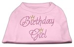 Birthday Girl Rhinestone Shirt Light Pink XS