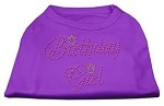 Birthday Girl Rhinestone Shirt Purple XS