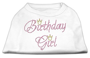 Birthday Girl Rhinestone Shirt White XXXL(20)
