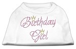 Birthday Girl Rhinestone Shirt White XS