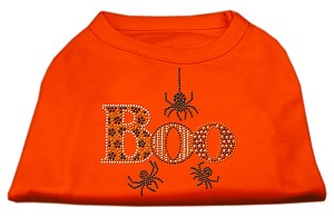 Boo Rhinestone Dog Shirt Orange XL (16)