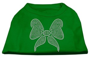 Rhinestone Bow Shirts Emerald Green Sm (10)