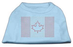 Canadian Flag Rhinestone Shirts Baby Blue S (10)