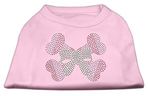 Candy Cane Crossbones Rhinestone Shirt Light Pink M (12)