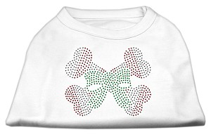 Candy Cane Crossbones Rhinestone Shirt White XL (16)