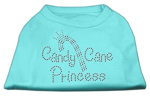 Candy Cane Princess Shirt Aqua S