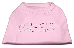 Cheeky Rhinestone Shirt Light Pink S