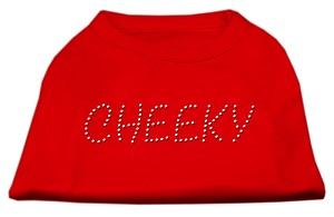 Cheeky Rhinestone Shirt Red XXXL