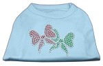 Christmas Bows Rhinestone Shirt Baby Blue XL (16)