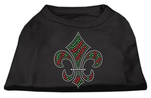 Holiday Fleur de lis Rhinestone Shirts Black L