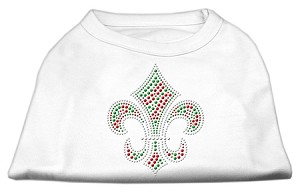Holiday Fleur de lis Rhinestone Shirts White XL (16)