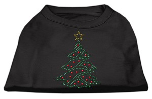 Christmas Tree Rhinestone Shirt Black M (12)