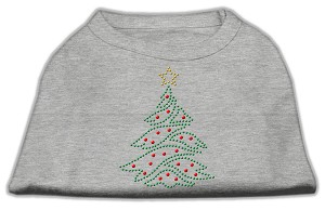 Christmas Tree Rhinestone Shirt Grey XL (16)