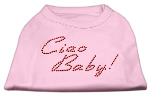 Ciao Baby Rhinestone Shirts Light Pink S (10)