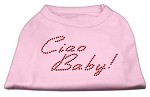 Ciao Baby Rhinestone Shirts Light Pink S
