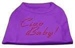 Ciao Baby Rhinestone Shirts Purple XL