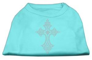 Rhinestone Cross Shirts Aqua M (12)