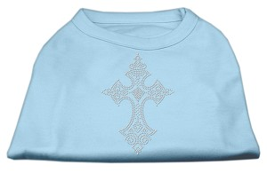 Rhinestone Cross Shirts Baby Blue XS (8)