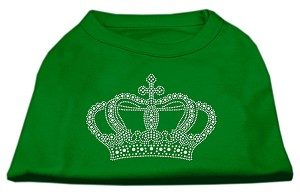 Rhinestone Crown Shirts Emerald Green XS (8)
