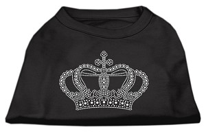 Rhinestone Crown Shirts Black XL (16