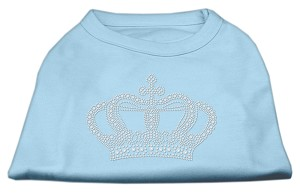 Rhinestone Crown Shirts Baby Blue XL (16