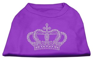 Rhinestone Crown Shirts Purple XL