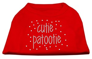 Cutie Patootie Rhinestone Shirts Red MD