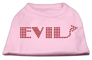 Evil Rhinestone Shirts Light Pink XXL