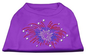 Fireworks Rhinestone Shirt Purple XL (16)