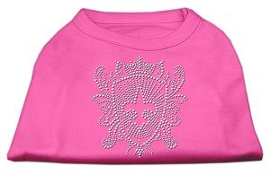 Rhinestone Fleur De Lis Shield Shirts Bright Pink XL (16)