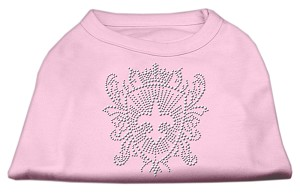 Rhinestone Fleur De Lis Shield Shirts Light Pink XS (8)