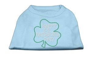 Happy St. Patrick's Day Rhinestone Shirts Baby Blue XXL (18)