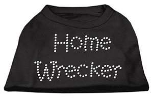Home Wrecker Rhinestone Shirts Black XXXL(20)
