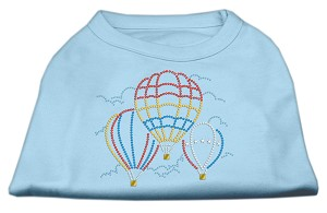 Hot Air Balloon Rhinestone Shirts Baby Blue L