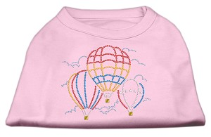 Hot Air Balloon Rhinestone Shirts Light Pink XS