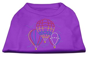 Hot Air Balloon Rhinestone Shirts Purple XL (16