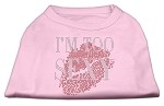 I'm Too Sexy Rhinestone Shirts Light Pink XS